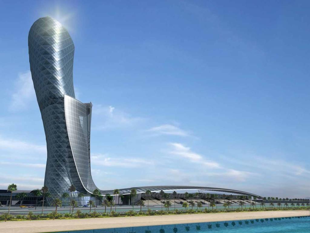 35-этажное здание Capital Gate. Абу-Даби