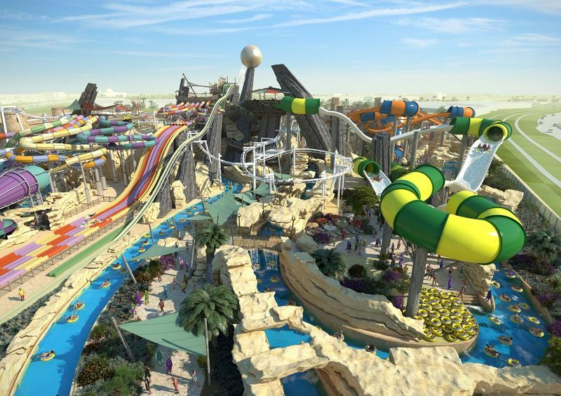 Горки аквапарка Yas Waterworld