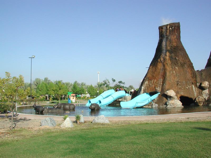 Искусственный вулкан аквапарка DreamLand. Умм-аль-Кувейн
