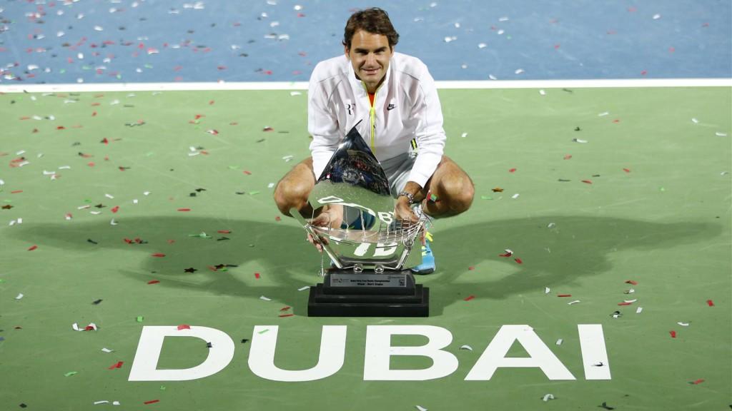 Легендарный Роджер Федерер - победитель Дубай Дьюти-фри