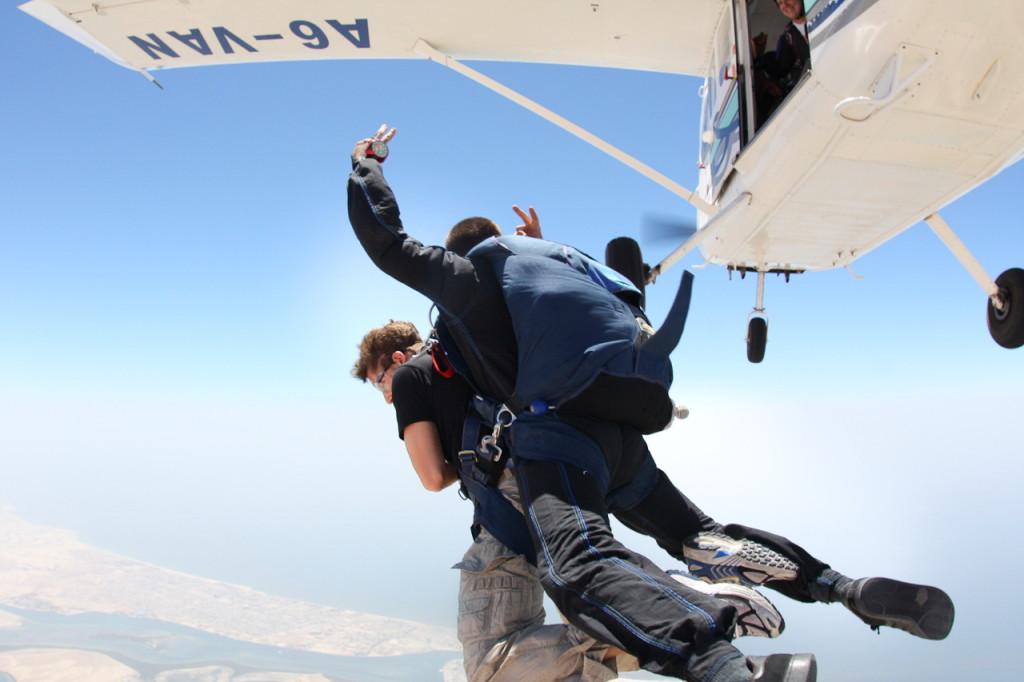 Прыжки с парашютом. Аэроклуб в Умм-аль-Кувейне