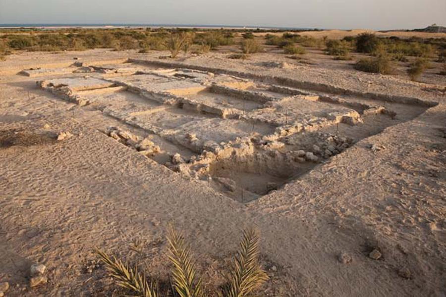 Руины Христианского монастыря на острове Сир-Бани-Яс