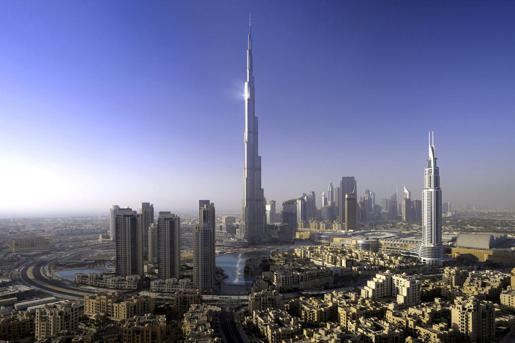 Здание Бурдж-Халифа в Дубае