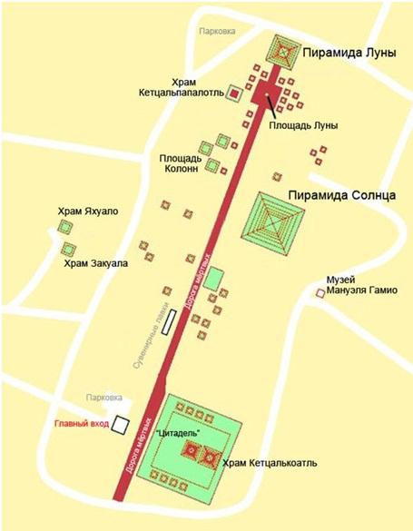 Схема Теотиуакана